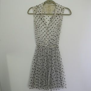 Free People Sheer Polka Dot Tunic/Dress